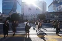 Patung Hachiko terletak di ujung penyeberangan ini