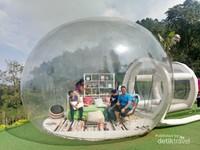 Bubble tent, spot foto berbayar yang amat diminati