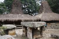 Makam yang berupa batuan megalitik terletak di tengah desa