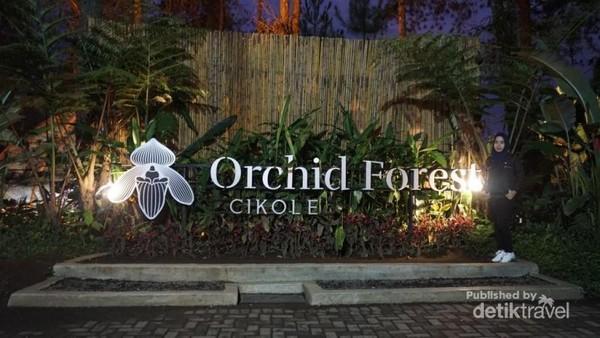Gerbang Orchid Forest akan menyambut pengunjung yang datang .
