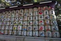Sake yang didonasikan untuk Kuil Meiji Jingu