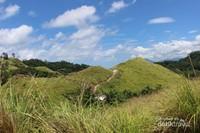 Nampak bukit yang hijau dengan jalan setapak mengajak siapa saja yang melihat untuk menyusuri keindahan alam ini.