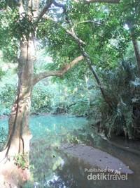 Kawasan telaga Buret didesa Sawo kecamatan Campurdarat mempunyai tradisi bernama Ulur-ulur. Ritual yang menjadi ajang mempererat tali silaturahmi warga dengan nenek moyang(Foto: Akbar Dedy Pratama)