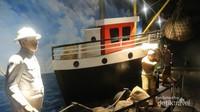 Diorama suasana pelabuhan pada masa penjajahan Belanda