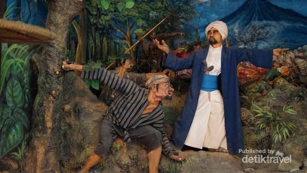Diorama perjuangan Indonesia juga menjadi bagian dari koleksi Kraton