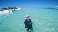 Airnya bening di Pulau Sibuan