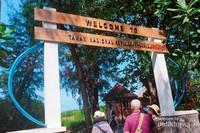Taman Nasional Kepulauan Seribu di Pulau Pramuka.