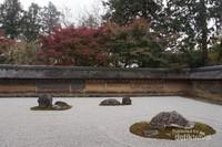 Spot utama di Ryoan-ji, taman pasir mistis dengan 15 batu dengan berbagai ukuran