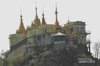 Bangunan utama di Gunung Poppa