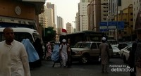 Padatnya lalu lintas Mekkah