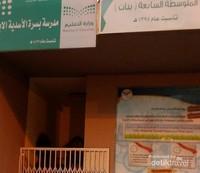 Tampak depan salah satu sekolah di Makkah