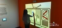 Area interaktif yang terinspirasi dari karya FX Harsono berjudul Blank Spot in My TV, dan memancing imajinasi pengunjung untuk menggambar di spot yang kosong pada layar TV.
