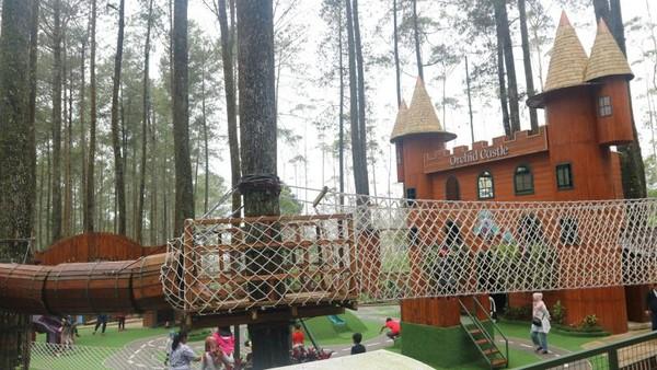 Orchid Castle terletak di kawasan Orchid Forest Cikole