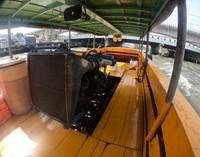Mesin dari perahu yang saya dan rombongan sewa
