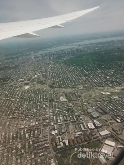 Penampakan Kota Montreal dari Ketinggian, Rapi Ya?