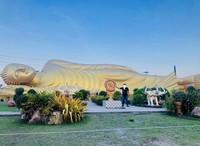 Patung Budha Wat Phranon Laem Pho terletak di Hatyai, Songkhla, Thailand. Patung Budha ini sangat besar dan berwarna keemasan yang gambarnya seperti di atas.  Tepatnya di daerah selatan ThailandPatung Budha Wat Phranon Laem Pho berada. Kalau Anda berwisata ke selatan Thailand atau Hatyai jangan lupa untuk mengunjungi patung Budha tersebut  Patung Budha Wat Phranon Laem Pho terkenal di dunia, Untuk Anda yang suka traveling, hunting foto tempat tersebut memang sesuai. Untuk Anda penganut Agama Budha bisa bersembahnyang disitu karena di sebelah kiri dan kanan patung tersebut terdapat kuil tempat sembahyang.  Di depanPatung Budha Wat Phranon Laem Pho dihiasi dengan taman hiasan yang bersih dan indah, pengunjung bisa besantai, berfoto di situ, pasti hasil fotonya terlihat indah.