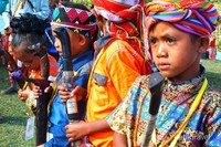 Foto anak-anak adat dari Kecamatan Mollo Utara.