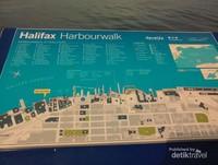 Peta lokasi Dermaga Pelabuhan Halifax.