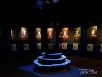 Salah satu sudut ruangan yang khusus menampilkan para Gubernur Jawa Barat
