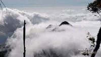 Pemandangan dari puncak Mutis ini, serasa kita berada di negri diatas awan.