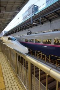 Salah satu Shinkansen yang tiba di Tokyo Station