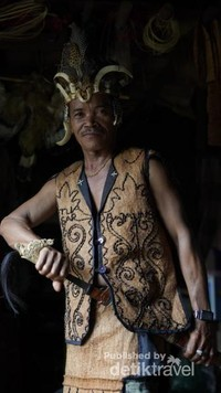 Salah satu pelaku ritual Mesiwah Pare Gumboh yang akan terlibat dalam kegiatan ritual di Desa Liyu, Kecamatan Halong, Kabupaten Balangan, Kalimantan selatan.