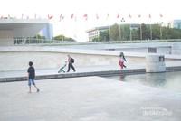Lapangan Banteng ini cocok juga untuk berolahraga.