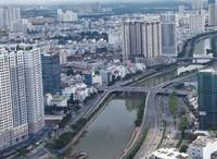 Pemandangan Kota Ho Chi Minh dari Saigon Skydeck.