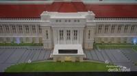 Maket gedung museum Bi .