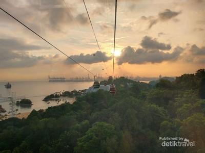 Kereta Gantung, Transportasi Wajib di Sentosa Island