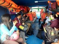 Suasana di dalam speadboat menuju Tanjung Selor.