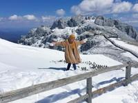 Foto bermain salju di Gunung Shika yang kami tunjukkan ke anggota SWAT