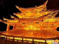 Salah satu kuil terbesar di Dukezong, Shangri-La, China.