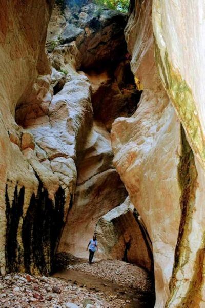 Dinding batu alam membentuk terowongan  (Promosi Wisata TTS)