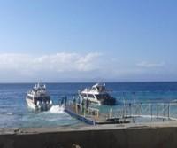 Dermaga Sampelan. Boat kami yang siap kembali ke Pelabuhan Sanur