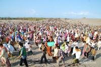 Jamaah yang hadir diperkirakan berjumlah 3.600-an dari berbagai wilayah.