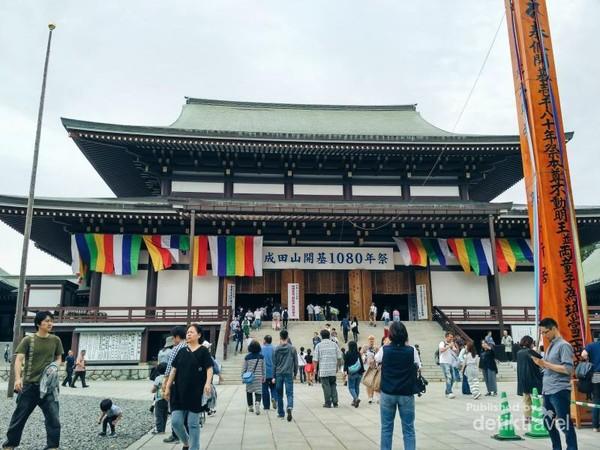 Salah satu kuil di kawasan Otomesando