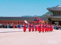 Upacara pengawal di Istana Gyeongbokgung, Seoul.
