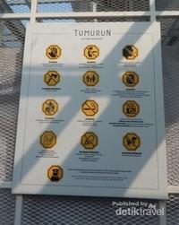 Peraturan yang harus diperhatikan saat memasuki museum.