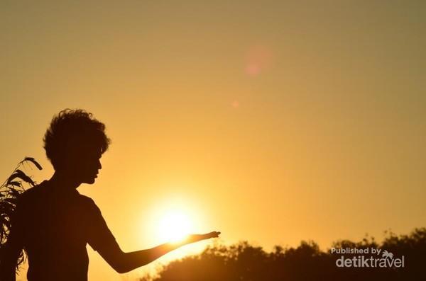 Sunset di Gumuk Pasir