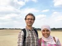 Bahagia bisa menikmati pemandangan alam di Taman Nasional De Hoge Veluwe saat libur musim panas