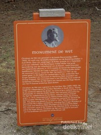 Sekilas tentang sejarah Monument De Wet yang didedikasikan untuk seorang jenderal yang berjasa saat terjadi Perang Boer di Afrika Selatan.