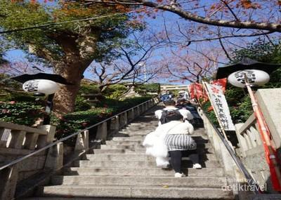 Kuil Cantik Lain Jepang Berpemandangan Kota Kobe