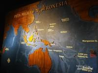 Peta migrasi etnis Austronesia yang diyakini sebagai orang nusantara pada masa lampau