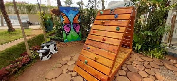 Ada juga arena bermain untuk si kecil di area pameran Flona 2019