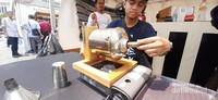 Kita bisa melihat langsung proses roasting kopi