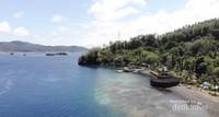 Salah satu resor wisata di Bitung yang terletak bersebelahan dengan Selat Lembeh
