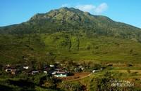 Hamparan desa Promasan, desa terakhir di lereng Gunung Ungaran yang warganya sebagian besar pemetik teh.