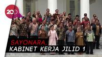 Perpisahan Kabinet, Jokowi-JK Foto-foto Bareng Menteri