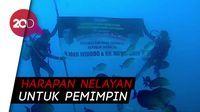Dari Dasar Selat Bali, Nelayan Banyuwangi Kirim Ucapan Selamat untuk Jokowi